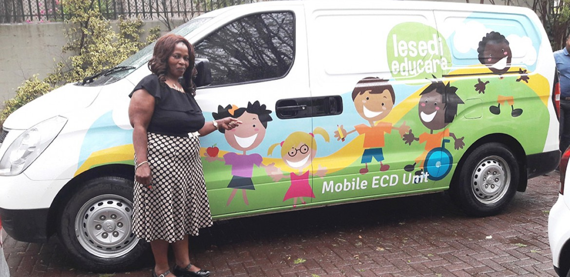 LESEDI's MOBILE ECD UNIT IS RE-BRANDED